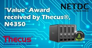 "Thecus® N4350 receives ""Value"" Award from Simply Reviews, UK"