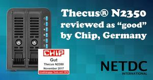 "Thecus® N2350 reviewed as ""good"" by Chip, Germany"