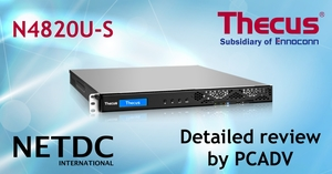 Thecus® N4820U-S tested and praised by PCADV, TW