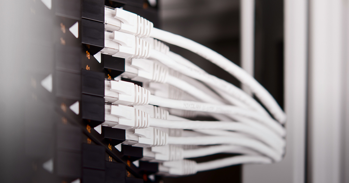 Patch panels with angled ports