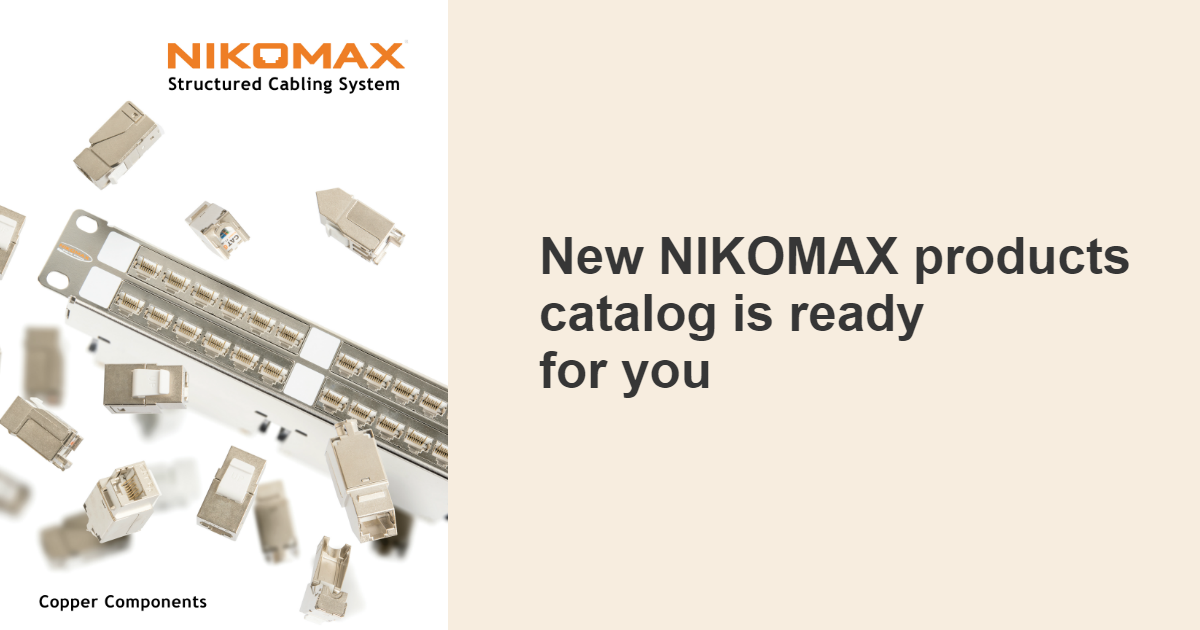 2018 NIKOMAX Product Catalogue is now available for download